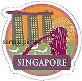 Amazon.co.jpドレスアップステッカー シンガポール 海外旅行シール スーツケース・タブレット・マイカー・バイク・スケボーetcのカスタマイズに