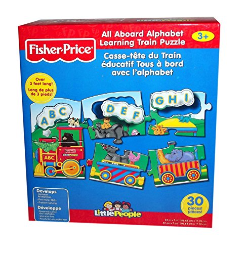 Fisher-Price All Aboard Alphabet/Numbers Learning Train Jigsaw Puzzle (Little People), 30-Piece