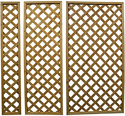 Woodside Wooden Outdoor 180cm Lattice Pattern Garden Trellis Landscaping Fence Panels