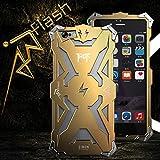 アイアンマン グッズiPhone6s Plusケース iPhone6Plusケース キャラクター iPhone6/6s plusカバー アルミケース 金属カバー 保護ケース (ゴールド)