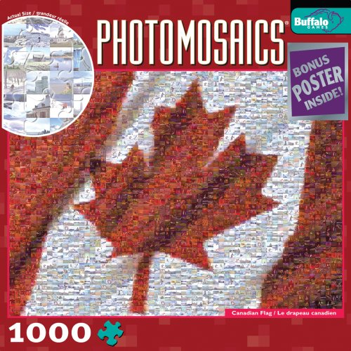 Cheap Fun Buffalo Games Photomosaic: Canadian Flag (B0015BNEEM)