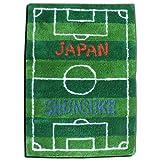 イニシャルマット  45×70cm 【サッカーピッチ】 「世界に1枚」 ◆ ご希望の文字が入れられる オリジナル玄関マット(受注生産)