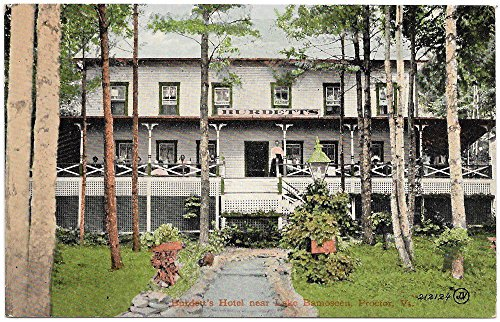 Postcard Burdett€TMs Hotel near Lake Bamoseen in Proctor, Vermont~97244 (Hotels Near compare prices)