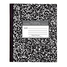 Roaring Spring Marble Cover Composition Book, Wide Rule, 8-1/2 x 7 Inches, 48 Pages (77333)
