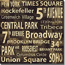 NY by Luke Wilson Premium Stretched Large Canvas (Ready to Hang)