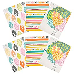 Mead 2-Pocket Folders, Assorted Botanical Boutique Designs, 6 Pack (73095)
