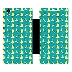Skintice Designer Flip Cover with Vinyl wrap-around for Karbonn Machone Titanium S310, Design - Christmas Tree