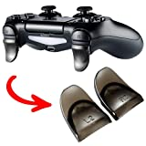 eXtremeRate 2 Pairs L2 R2 Buttons Extention Trigger Extenders for Playstation 4 PS4 Controller JDM-030 - Transparent Brown (Color: Clear Brown, Tamaño: JDM-030)