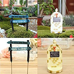 LussoLiv Potted Plant Landscape Micro Guideboard Ornaments Garden DIY Decor