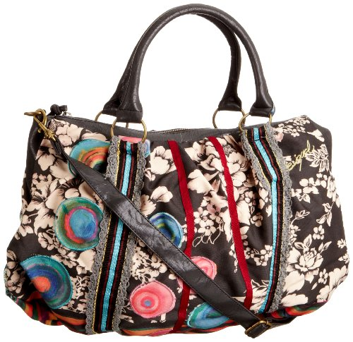 Desigual Bols Bag Rayas Topos, Sac  main  Noir (2000  Negro) Picture