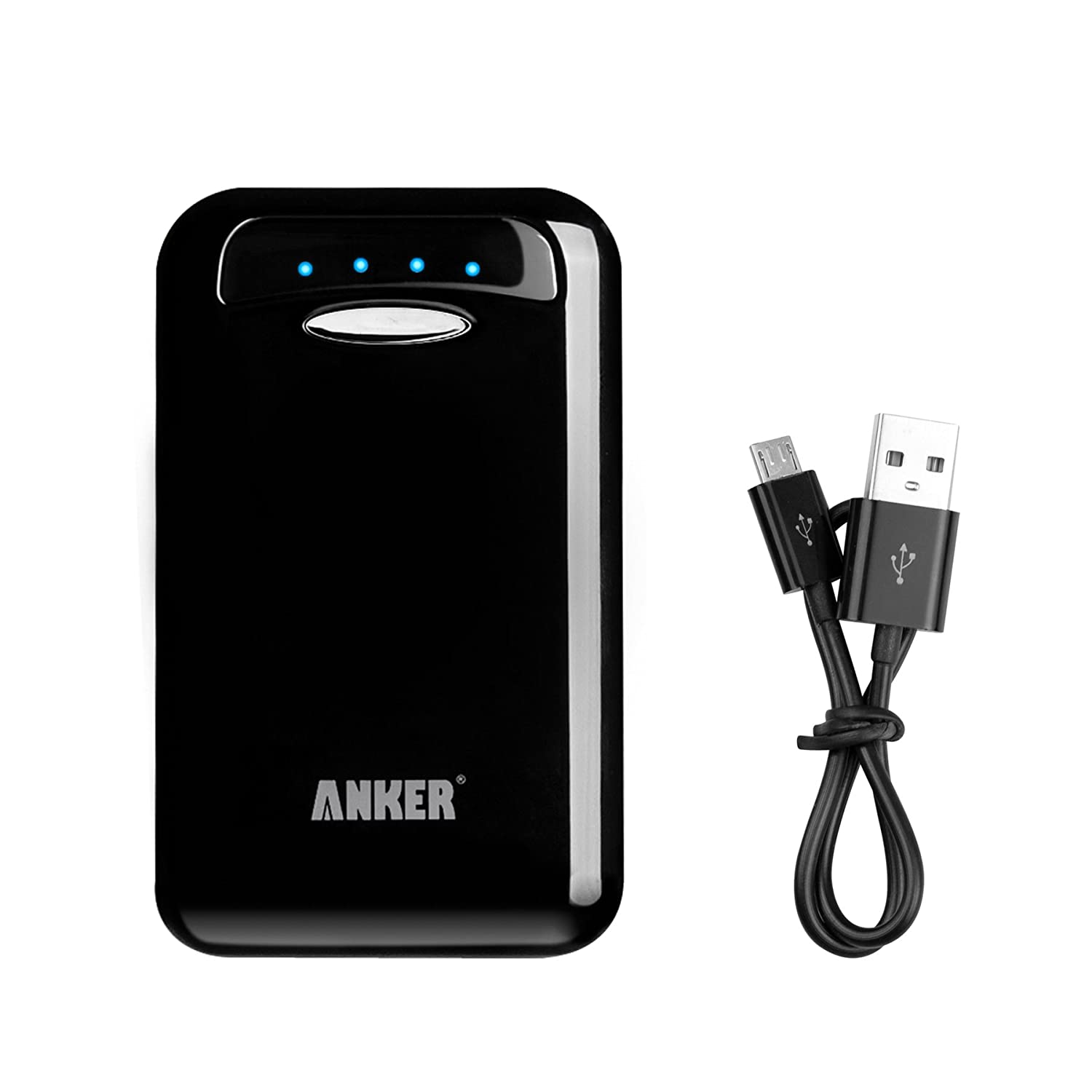 Anker® Astro E5 15000mAh Dual USB Port Externer Akku Batterie Power Bank Ladegerät für Smartphones, Android Phones Tablets, iPad, iPhone, Handy, PSP, GoPro, GPS [Powerversion mit Samsung Zellen - stark aber smart] - Schwarz