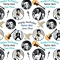 Elvis Presley Personalised (Add the recipients name, max 15 characters) Birthday Gift Wrap Paper plus 2 Tags- Use the 'Send as a gift' option to send us your personalisation name