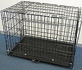 iimono117 ペットケージ LLサイズ 90×50×65cm 折りたたみ式 / スライドトレー付 ドッグサークル 大型犬用 犬 猫 ペット ハウス トレイ 旅行 移動 お出かけ ゲージ