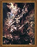 """Peter Paul Rubens The Fall of the Damned - 21.5"""" x 28.5"""" Framed Premium Canvas Print"""
