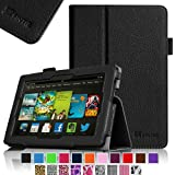 Fintie Amazon All New Kindle Fire HD 7 Slim Fit Folio Case with Auto Sleep / Wake Feature (will only fit All New Kindle Fire HD 7 2013 Model), Black