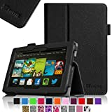 "Fintie Kindle Fire HD 7"" (2013 Old Model) Slim Fit Folio Case with Auto Sleep / Wake Feature (will only fit Amazon Kindle Fire HD 7, Previous Generation - 3rd), Black"