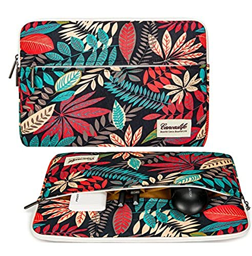 01. Canvaslife Colorful leaves Laptop Sleeve 13 Inch Macbook Air 13 Case Macbook Pro 13 Sleeve and 13.3 Inch Laptop Bag