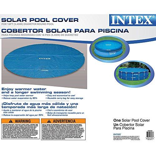 Intex Solar Cover For 18ft Diameter Easy Set And Frame