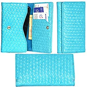 R&A Pu Leather High Quality Wallet Pouch Case Cover With Card Slot & Note Slots,Soft Inner Velvet For BlackBerry Curve 8520