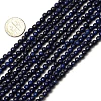 4mm Round Blue lapis lazuli Beads strand 15 Inches Jewelry Making Beads