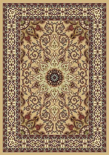 Beige Ivory Burgundy Green 7'10x10'2 Black Isfahan Area Rug Oriental Carpet Large New