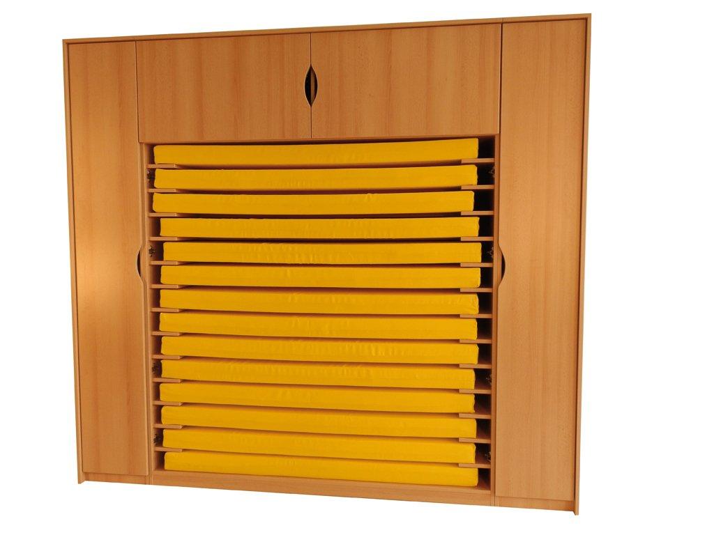 """Matratzen- und Bettwäscheschrank """"Basic- Plus"""" mit Seitentüren"""