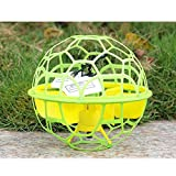 Geekercity Mini RC Flying Ball | 2.4Ghz Gyro RC Mini Helicopter | UFO Aircraft Remote Control Flying Ball (Yellow)