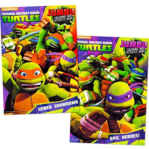 Teenage Mutant Ninja Turtles Coloring Book Set (2 TMNT Books) (Ninja Coloring Book Party Favors compare prices)