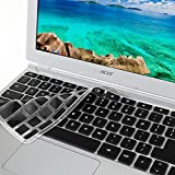 """GMYLE Black Silicon Keyboard Cover for Acer 11.6"""" Chromebook CB3-111-C670 CB3-111-C8UB (US Layout)"""