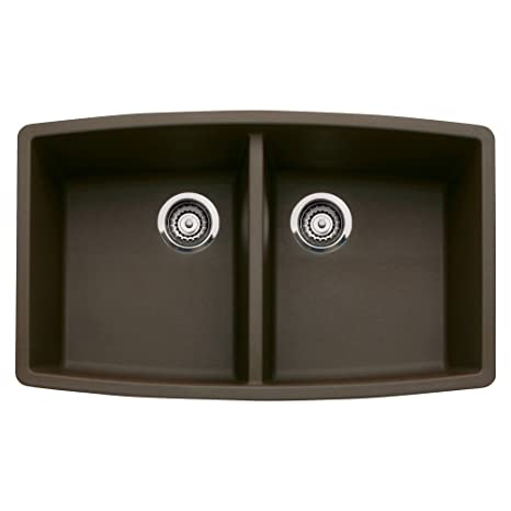 Blanco 440068 Performa Silgranit II Double Bowl Sink, Café Brown