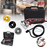 Mini Circular Saw Set,Multi-Function Professional Compact Circular Saw with 3 Carbide Tipped Blade, Power Saws Circular Compact for Wood, Metal, Drywall,Tile and Plastic Cutting (Color: With tool box)