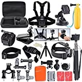 ccbetter All in one Sports Action Camera Accessories for GoPro Hero4 Session Hero1 2 3 3+ 4 SJ4000 5000 6000 7000 Xiaomi with Carrying Case (Black)