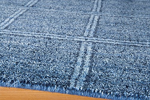 Momeni Rugs GRAMEGM-01DNM5080 Gramercy Collection, 100% Wool Hand Loomed Contemporary Area Rug, 5' x 8', Denim