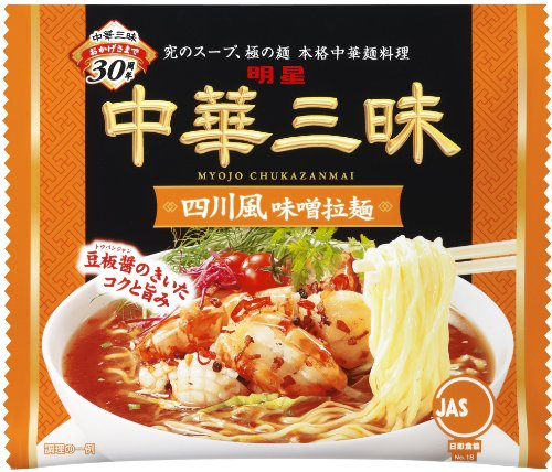 明星 中華三昧四川風拉麺 108g×24個