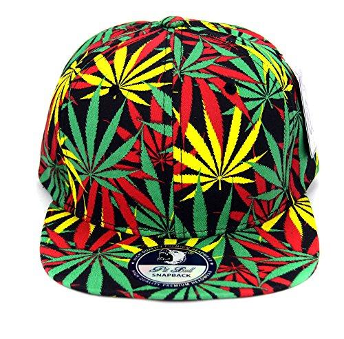 Cap2shoes-Marijuana-Weed-Leaf-Cannabis-Snapback-Hat-Cap-All-Over-Rasta