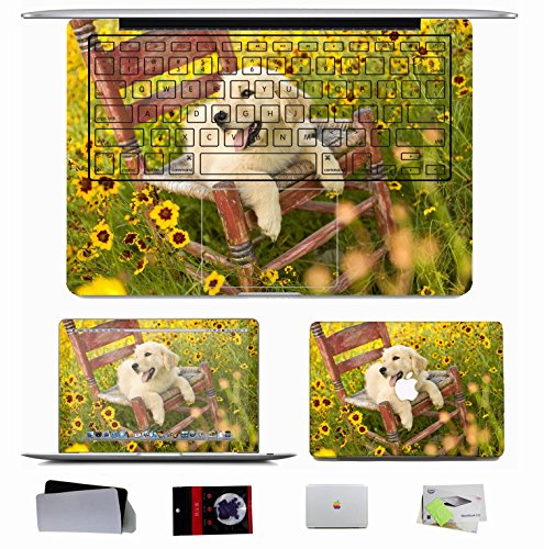 10 Pcs Macbook Pro/Air 11 13 15 Inch Skin Decal Sticker - Animals Dogs Chair S Grass front-225554