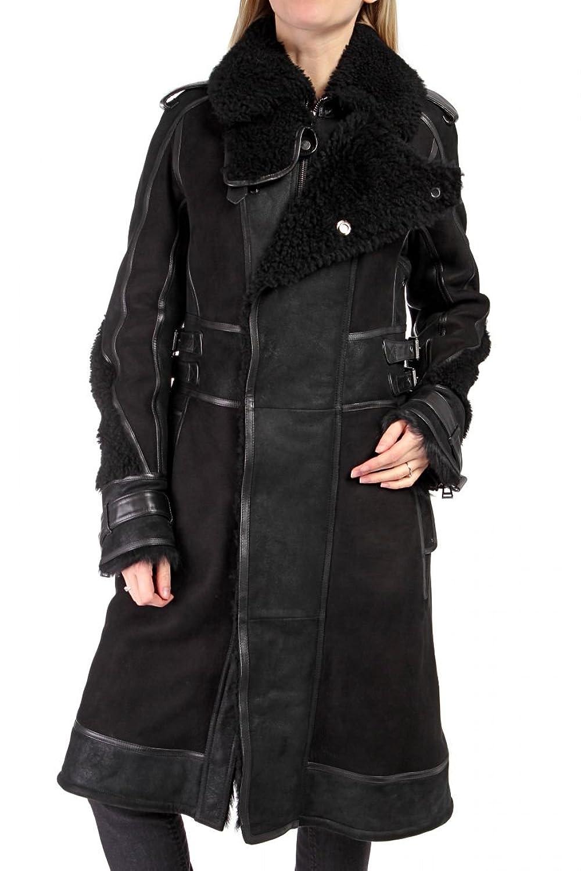 Belstaff Damen Jacke Leder Pelzmantel , Farbe: Schwarz günstig kaufen