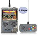 Augstar Retro Handheld Game Console, FC System Plus Extra Joystick Portable Mini Controller 3 Inch Support TV 2 Player 168 Classic Game Console,Present for Boy Kids Adult - (Transparent Black) (Color: Transparent Black)