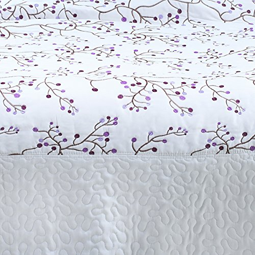 Sancarlos - Colcha bouti kristen bordada blanco - relleno ligero - esquinas redondeadas - varias medidas disponibles