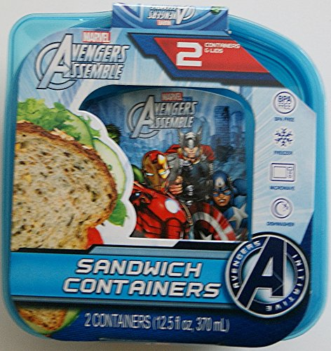 Avengers Assemble Sandwich Container - Pack of 2 (Mars Ice Cream compare prices)