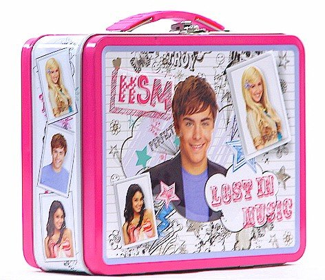 High School Musical White and Pink Tin Lunch Box