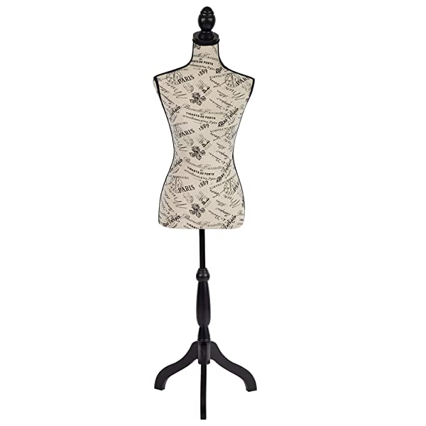 Dressform Mannequin Torso Dress Form 60-67 Inch Height Adjustable Female Model Display Mannequin Body High Density Foam with Wooden Tri-Pod Stand for Sewing Dressmakers Dress Jewelry Display (Color: Mixed)