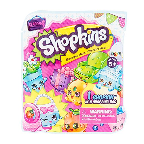 Shopkins Season 4 Surprise Pack - 1 Shopkin in a Shopping Bag