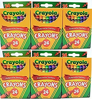 Crayola 24 Count Box of Crayons Non-Toxic Color Coloring School Supplies (3 Packs)