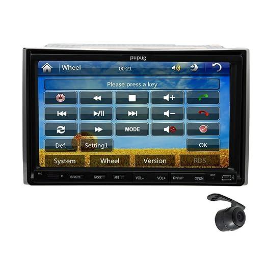 Gratuit camšŠra arriššre 7 voiture lecteur stšŠršŠo vidšŠo de 2 pouces standard din Buletooth Touch HD šŠcran CD DVD FM AM Radio IPOD USB SD TšŠlš&Sca