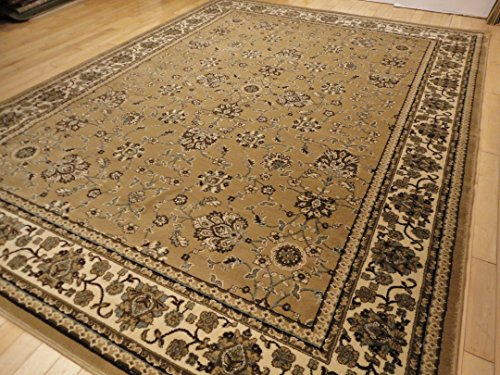 Premium 5x8 beige rugs traditional living room carpet for Dining room rugs 5x7