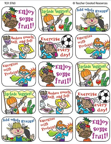 Teacher Created Resources Healthy Tips Jumbo Stickers, Multi Color (5760)