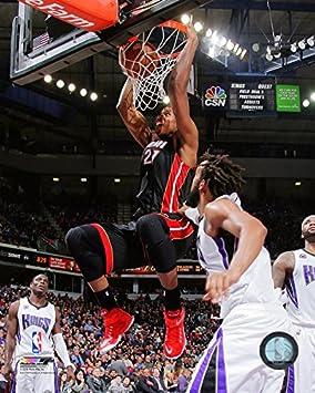 Hassan Whiteside Miami Heat 2014-2015 NBA Action Photo (Size: