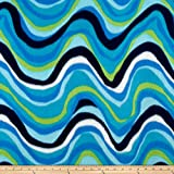 Polar Fleece Print Circe Lagoon Fabric By The Yard