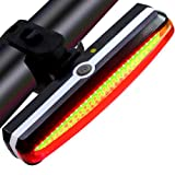UMITOM Ultra Bright Bike Light – USB Rechargeable Bike Light - Water Resistant High Intensity Rear LED Bicycle Tail Light - Cycling Safety Flashlight Fits Road & Mountain Bikes, Helmets and Backpack